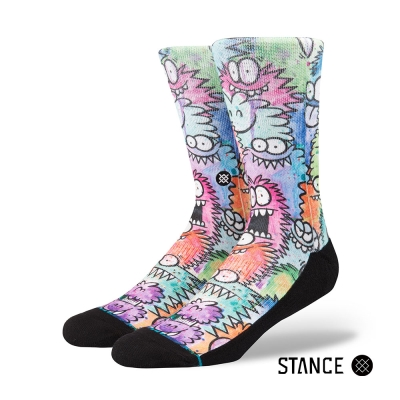 STANCE MONSTER PARTY-男襪-休閒襪-Kevin Lyons系列