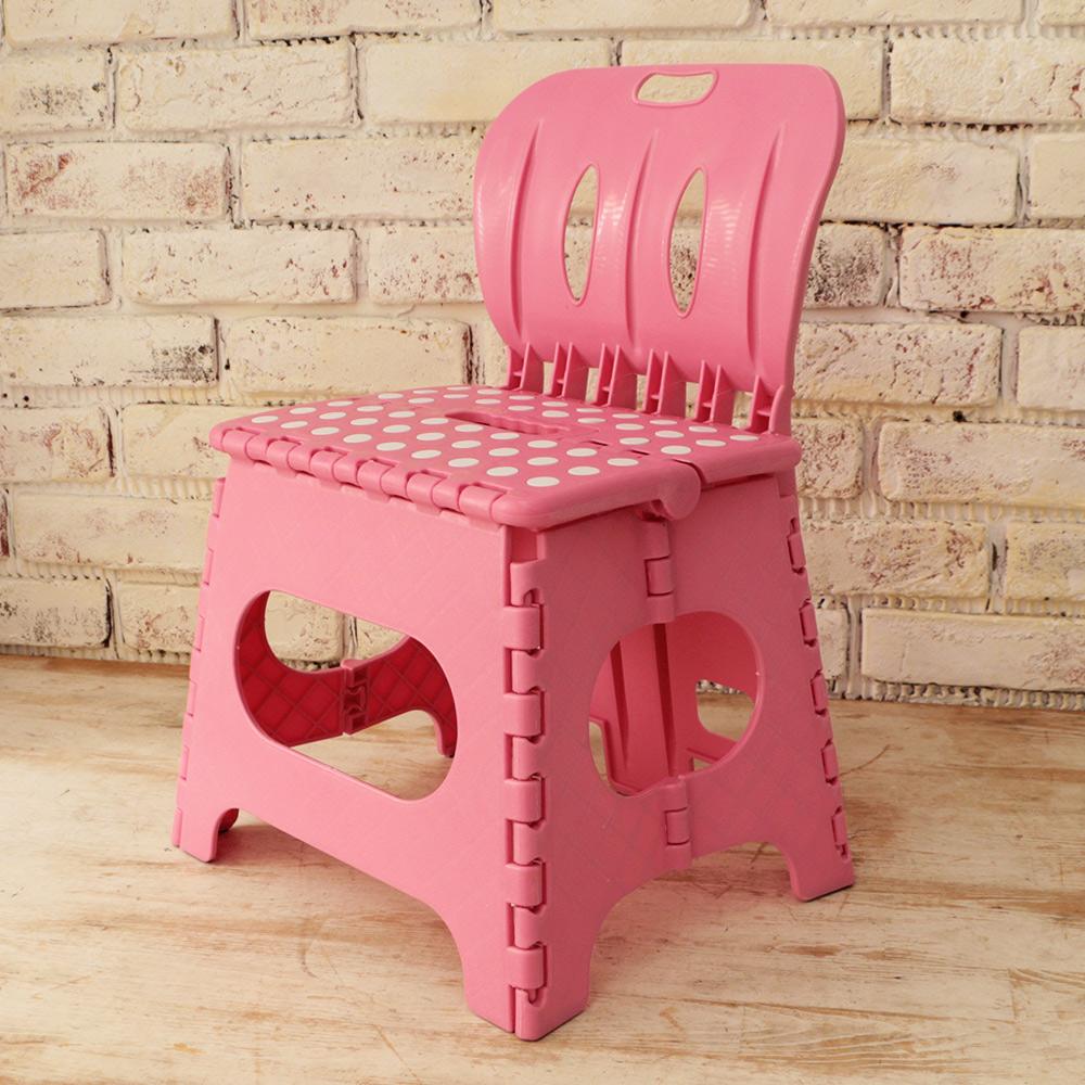 樂生活 麗緻專利折疊椅露營椅(粉紅)