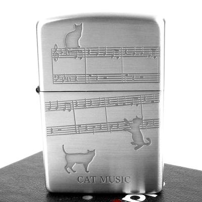 【ZIPPO】日系~CAT MUSIC-貓的樂章蝕刻圖案打火機