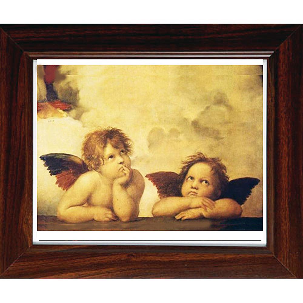 開運陶源【小天使--遐思】拉斐爾名畫小幅