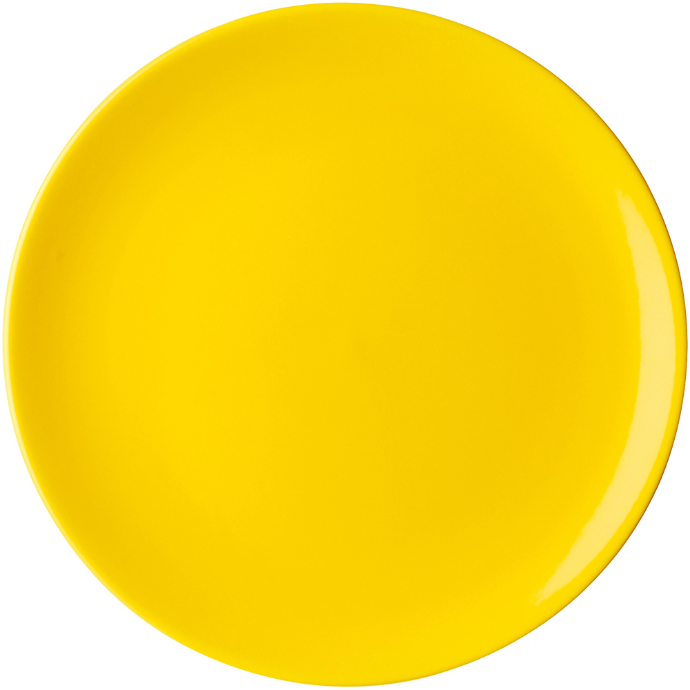 EXCELSA Trendy陶製淺餐盤(黃26cm)