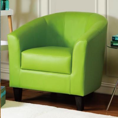 漢妮Hampton莫里斯皮面休閒椅/單人沙發/主人椅/椅子-草綠色