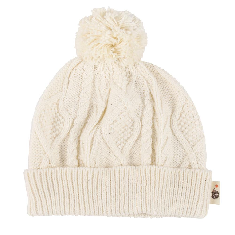 Hoppetta* 麻花編織毛球帽