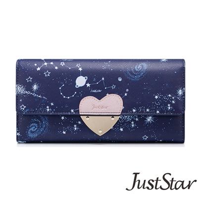 Just-Star-星空物語愛心長夾-深邃藍