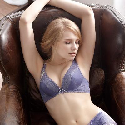 羅絲美內衣 - 女神風範深V泡棉款B-D罩杯內衣 (浪漫紫)
