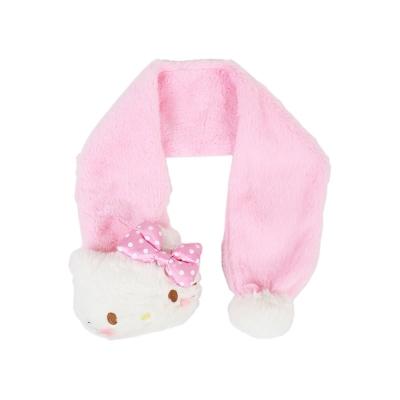 Sanrio HELLO KITTY玩偶造型兒童圍巾(點點蝴蝶結)