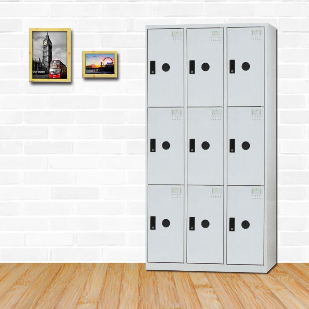 時尚屋 亞拜爾多用途塑鋼製9格置物櫃 寬90x深51x高180cm