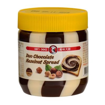 美味大師 亞美樂巧克力榛果雙色醬(350g)