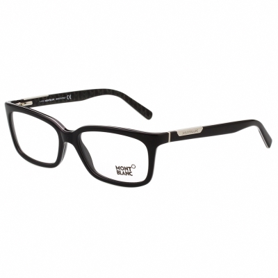 萬寶龍MONTBLANC 膠框 光學眼鏡(黑色) MB429