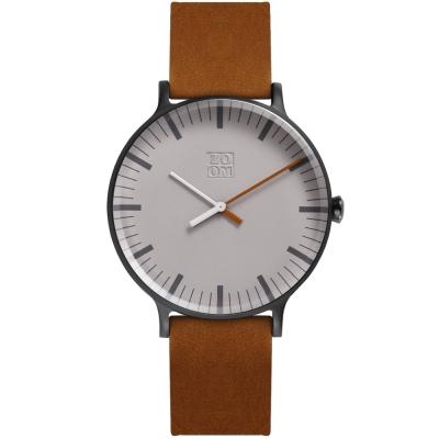 ZOOM Jazz 時光協奏曲極簡設計概念腕錶-銀灰色44mm