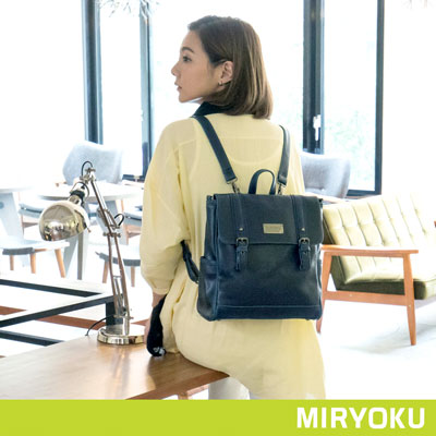 MIRYOKU-復古皮革系列-小Size雙飾帶兩用
