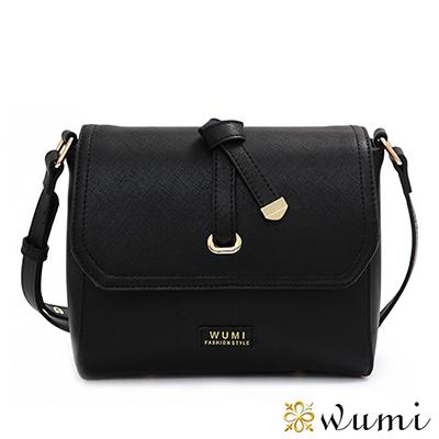 WuMi 無米 蜜莉Mini蝴蝶結斜背包 流行黑
