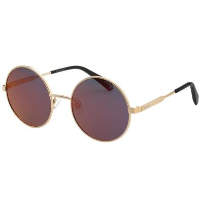 Polaroid 寶麗萊 偏光 水銀面 太陽眼鏡 (金色)
