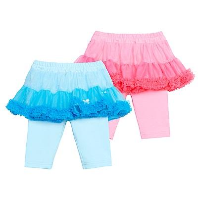 WHY AND 1/2 mini 假兩件棉質萊卡七分褲 1Y~4Y 多色可選
