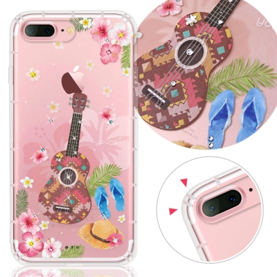 YOURS APPLE iPhone7 Plus 奧地利水晶彩繪防摔氣墊手機鑽殼...