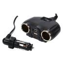 WirePRO 車用雙孔雙USB 電源擴充座(4A)-急速配