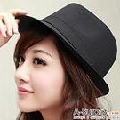 A-Surpriz 簡約優雅爵士帽(雅痞黑)