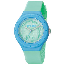 Reebok  CAMO圓點潮流時尚腕錶-粉綠/37mm