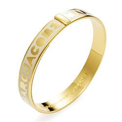 MARC BY MARC JACOBS奶油色底金字硬材質圓形手環