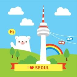 LOVIN 超萌韓版數字油畫 城市系列首爾(9) 1幅