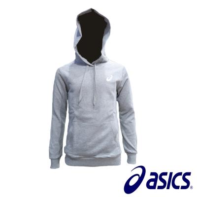 Asics 潮流百搭休閒情侶款 純棉連帽T(灰) K31604-10