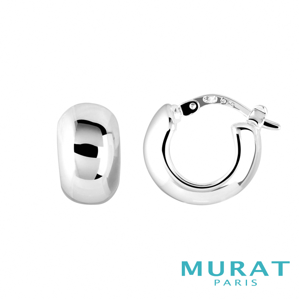 MURAT Paris米哈巴黎 時尚立體感圓弧耳環