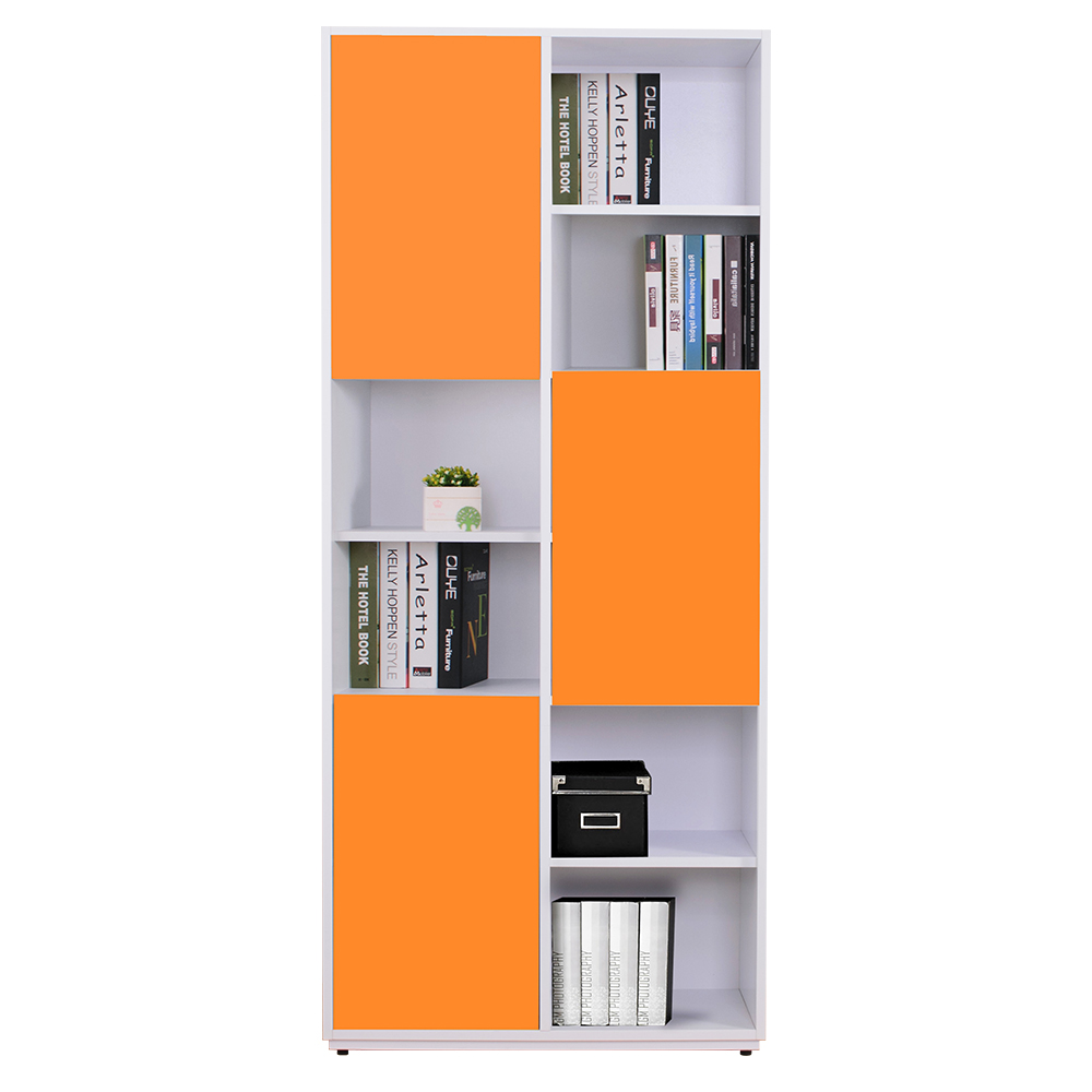 AT HOME-蒂芬妮2.7尺彩色三門書櫃-左(五色可選)