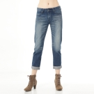 Lee 牛仔褲401  中腰標準合身小直筒-女款-中漂藍