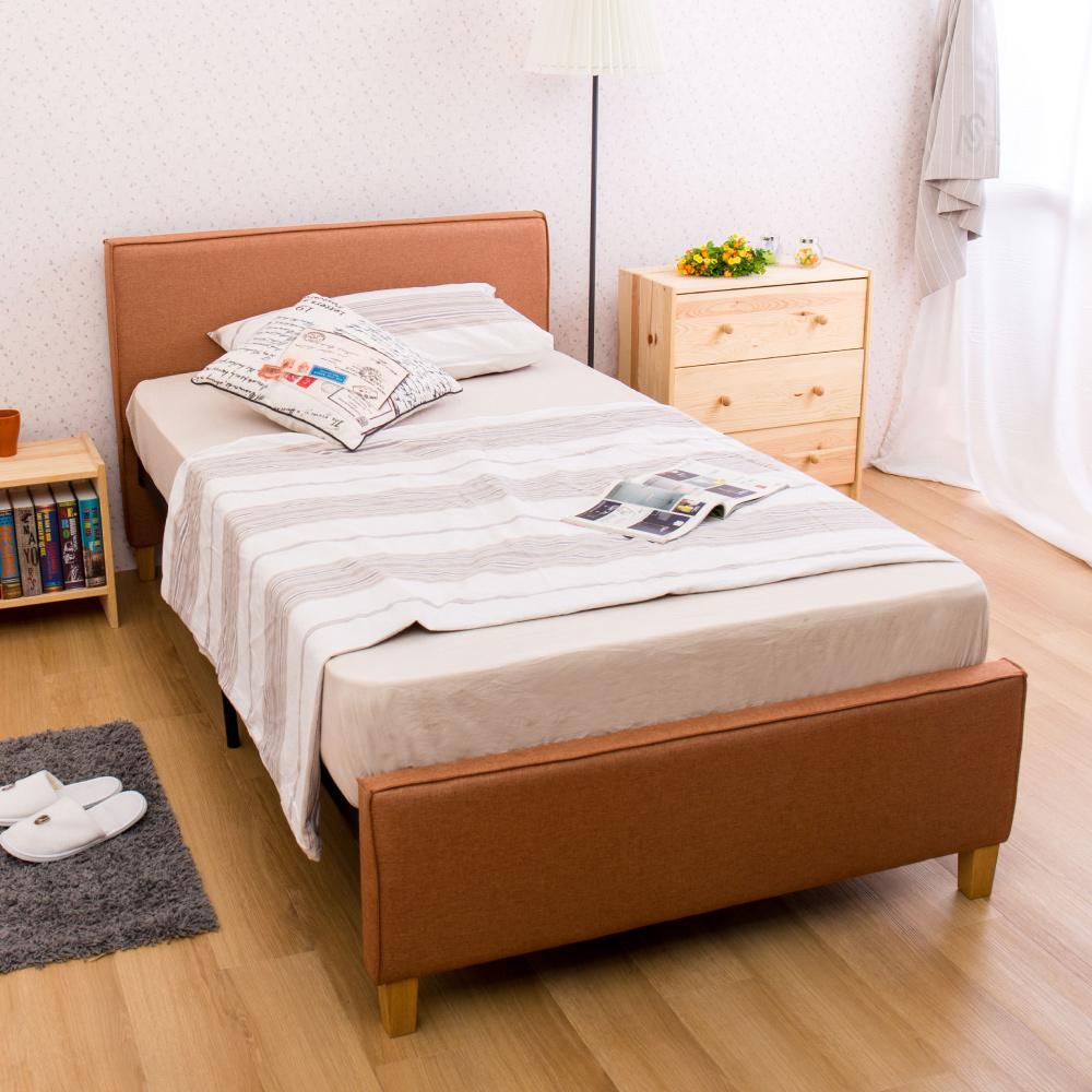 AS-村上單人咖啡色DIY床架-112x205x88cm