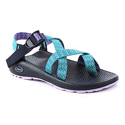 美國Chaco女越野運動涼鞋夾腳款CH-ZCW02HD41 (綠鑽薰衣草)