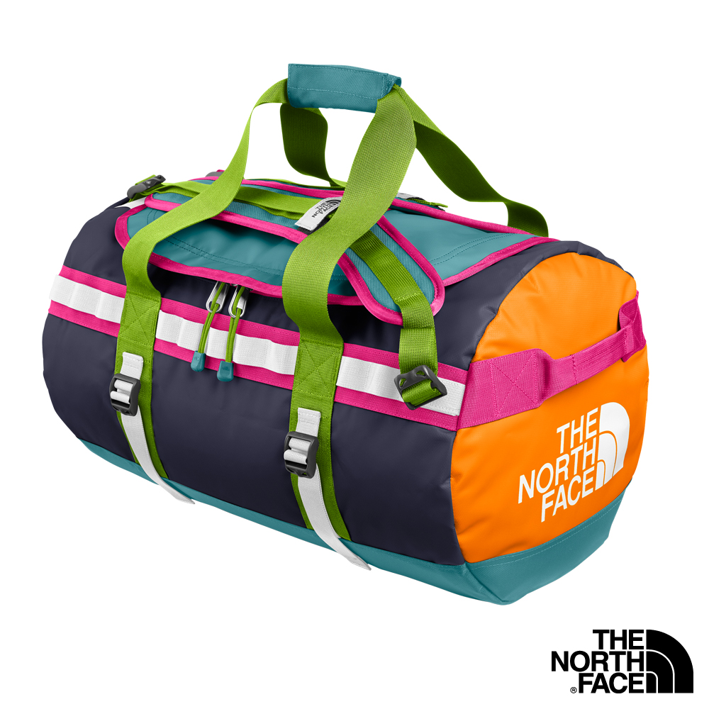 The North Face BASE CAMP DUFFEL 功能裝備袋  藍/甜筒橘