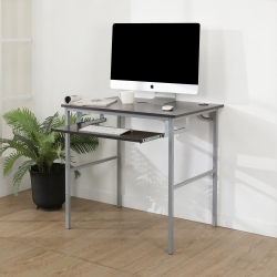 BuyJM簡單型防潑水低甲醛粗管鍵盤電腦桌/寬80cm-DIY