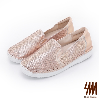 SM-晶鑽系列-手縫馬克款細鑽運動休閒鞋-玫瑰金