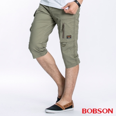 BOBSON 男款貼袋七分褲
