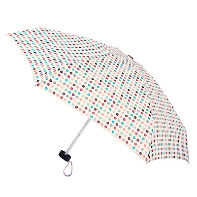 2mm Mini輕巧五折晴雨口袋手開傘 (彩色圓點)