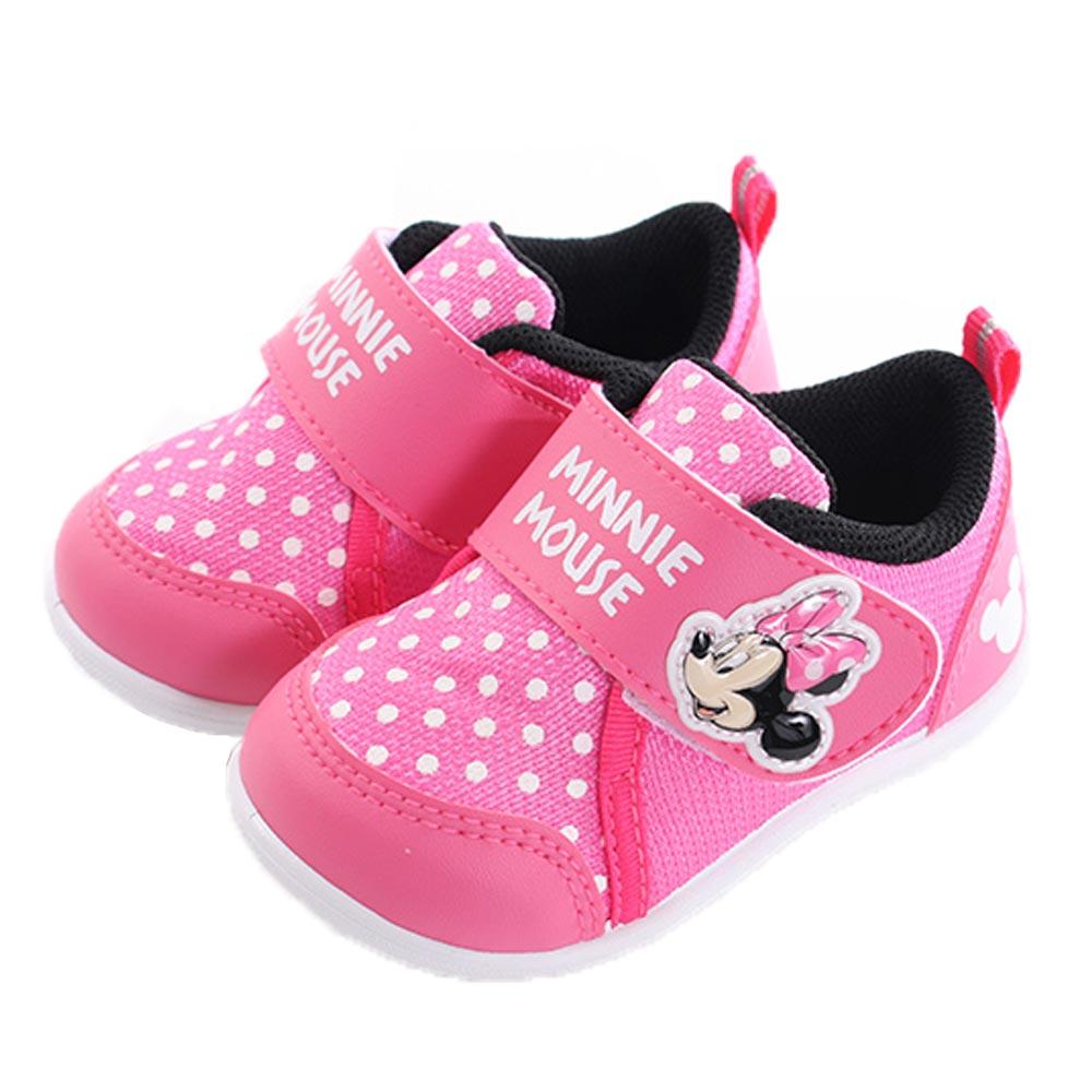 迪士尼米妮魔鬼貼休閒鞋 桃 sk0265 魔法Baby