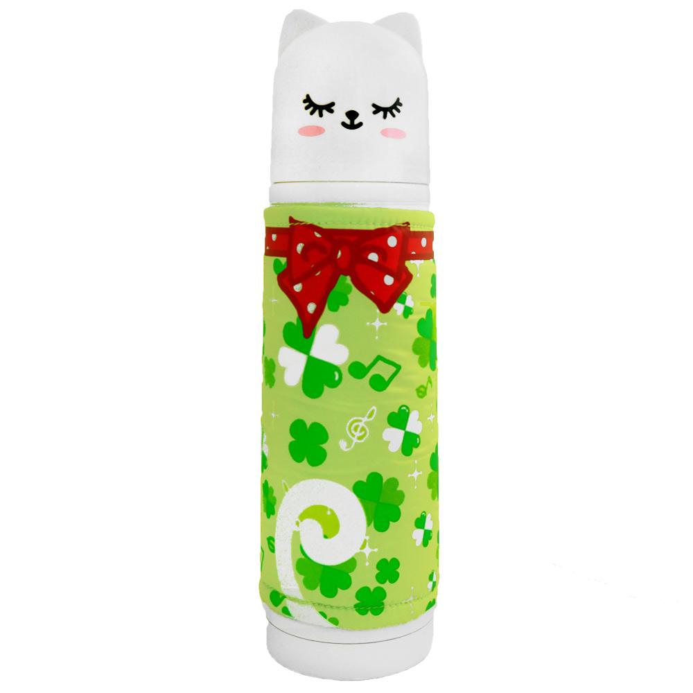 可愛日風貓咪家族保溫瓶500ml-白色