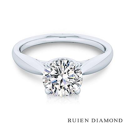 RUIEN DIAMOND GIA30分 D VVS2 3EX 18K白金 鑽石戒指
