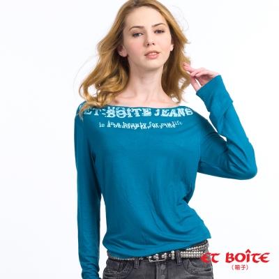 ETBOITE 箱子 BLUE WAY 羅馬領長袖T恤-藍