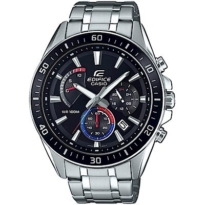EDIFICE 極速賽車計時指針腕錶(EFR-552D-1A3)黑框47mm