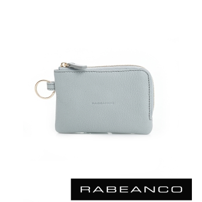 RABEANCO 經典小羊皮萬用鑰匙零錢包 – 淺藍