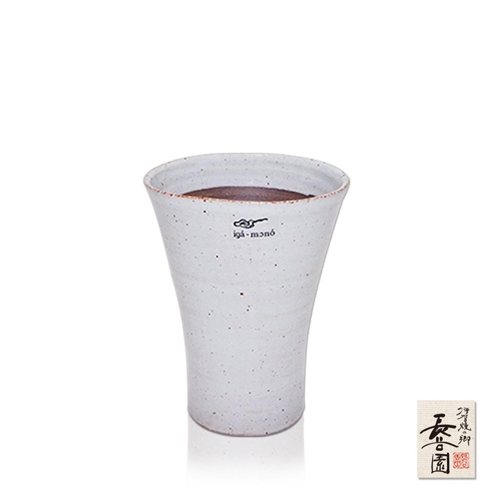【日本長谷園伊賀燒】日式三角陶土杯(白釉款小)