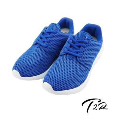【T2R】韓國空運增高6cm‧透氣網布空氣增高鞋-女  天藍