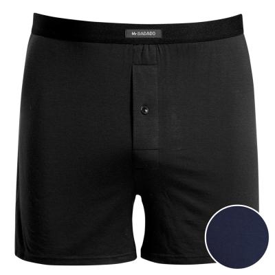 DADADO 基礎系列Modal纖維 M-LL長版四角褲(舒適藍)