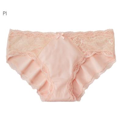 aimerfeel 淑女側邊蕾絲無痕內褲-粉紅色