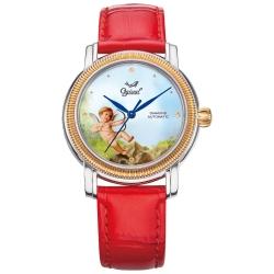 Ogival瑞士愛其華  搪瓷彩繪自動機械錶-邱比特/37mm