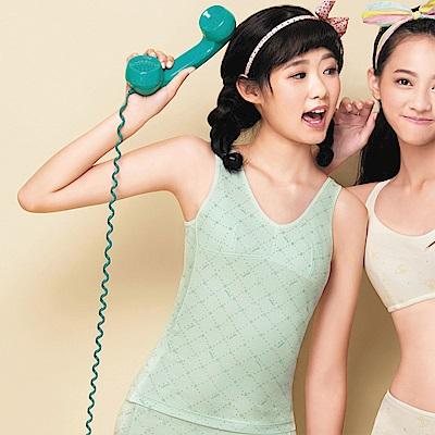 嬪婷-學生內衣寶貝棉蘆薈加工 M-3L 背心 (嫩草綠)