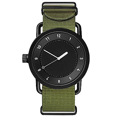 TID Watches No.1 TID-W100-36-NYGN-黑X綠錶帶腕/36mm
