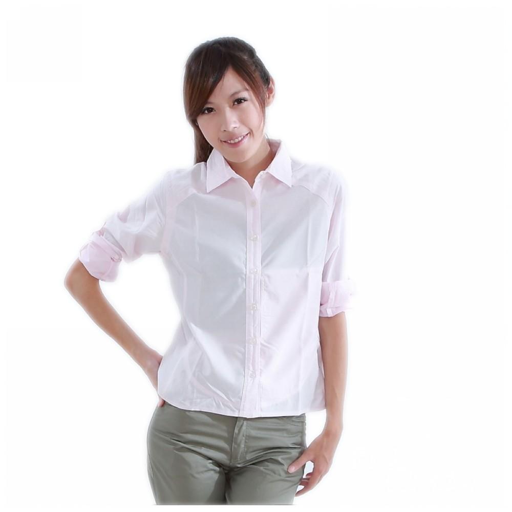CARAVA 女款日本原紗速乾排汗襯衫《粉紅》