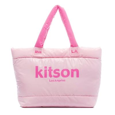 kitson 台灣限定 經典鋪棉托特包-PINK x PINK